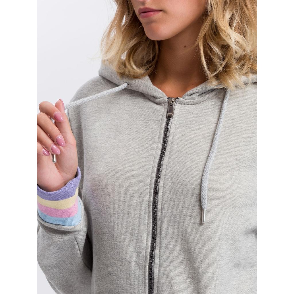 Cross Jeans® Kapuzensweatjacke »65223«, Legerer Cut