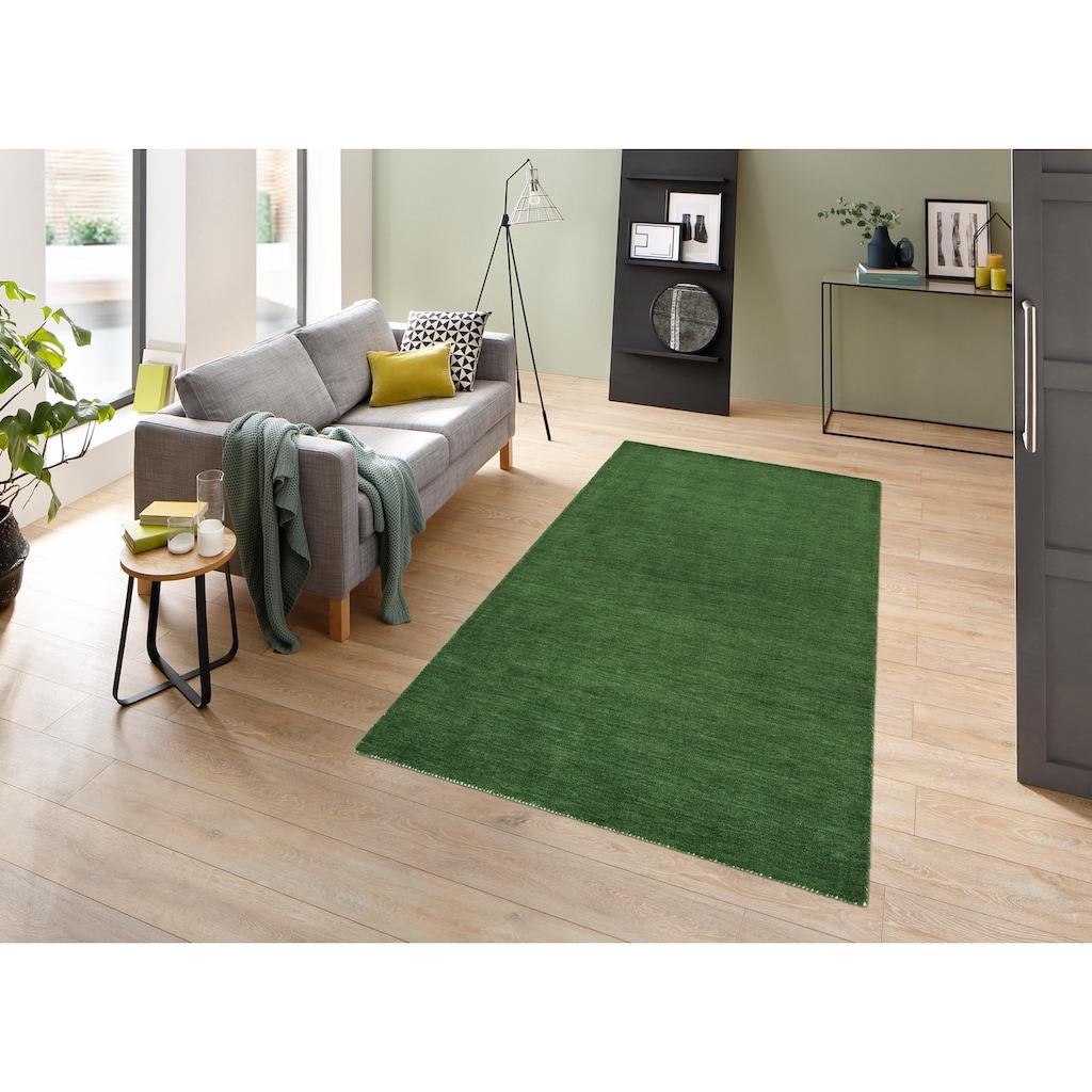 Theko Exklusiv Wollteppich »Gabbeh uni«, rechteckig, 15 mm Höhe, reine Wolle, Wohnzimmer