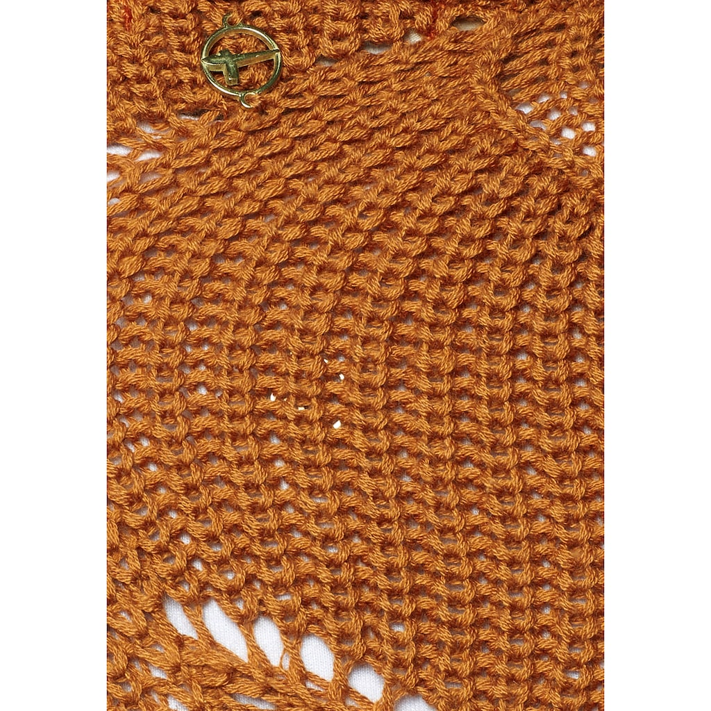 Tamaris Ajourstrickjacke, aus Grobstrick