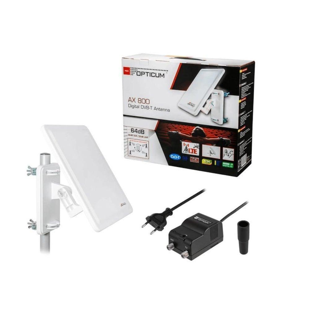 Opticum Red Flachantenne »AX 800 digitale DVB-T Außenantenne mit Verstärker (32dB, DVB - T2 geeignet,LTE)«, Verstärkung 64 dB