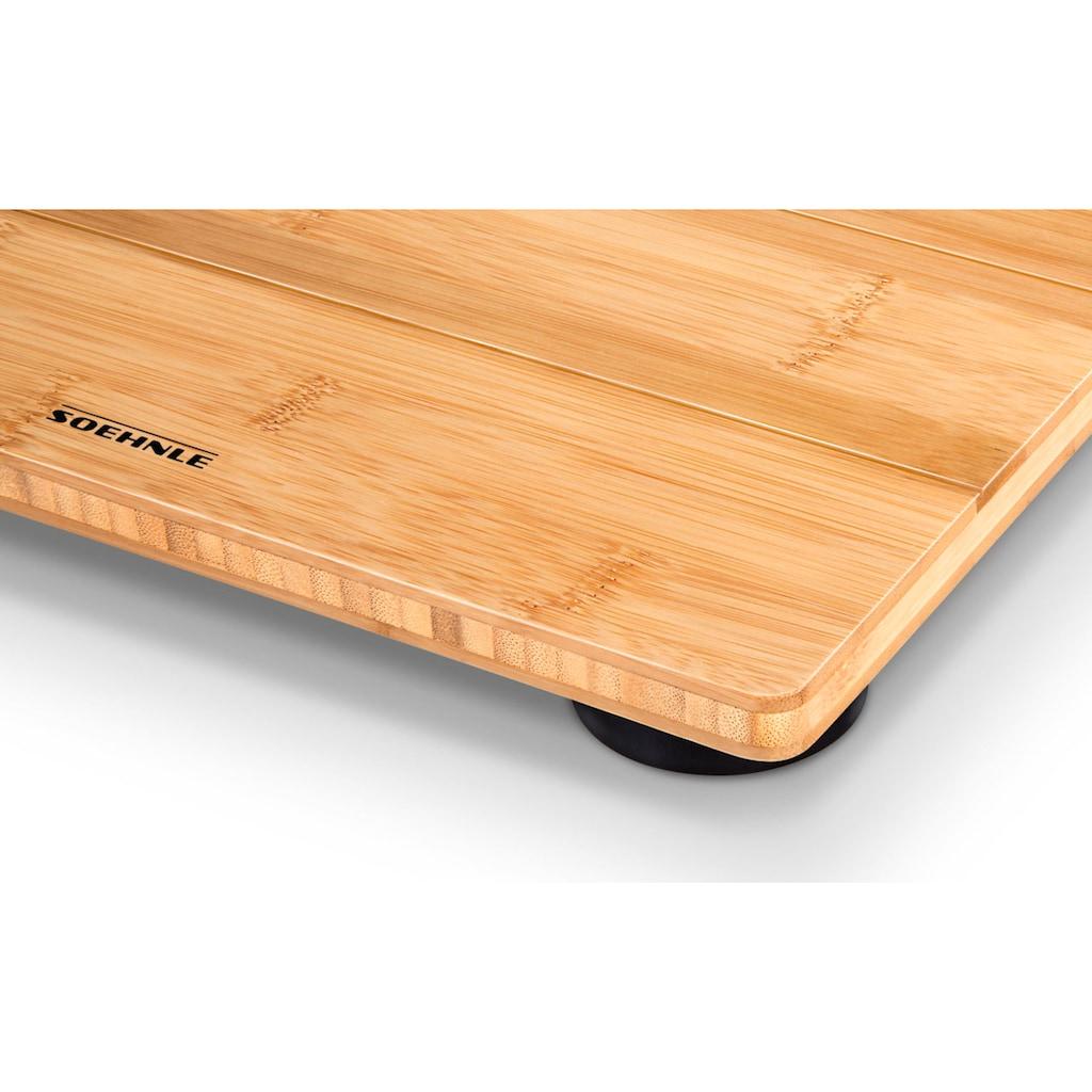 Soehnle Personenwaage »Bamboo Natural«, aus echtem Bambus für ein warmes Fußgefühl