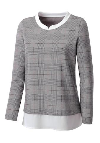 Inspirationen 2 - in - 1 - Shirt mit gewebten Einsatz kaufen