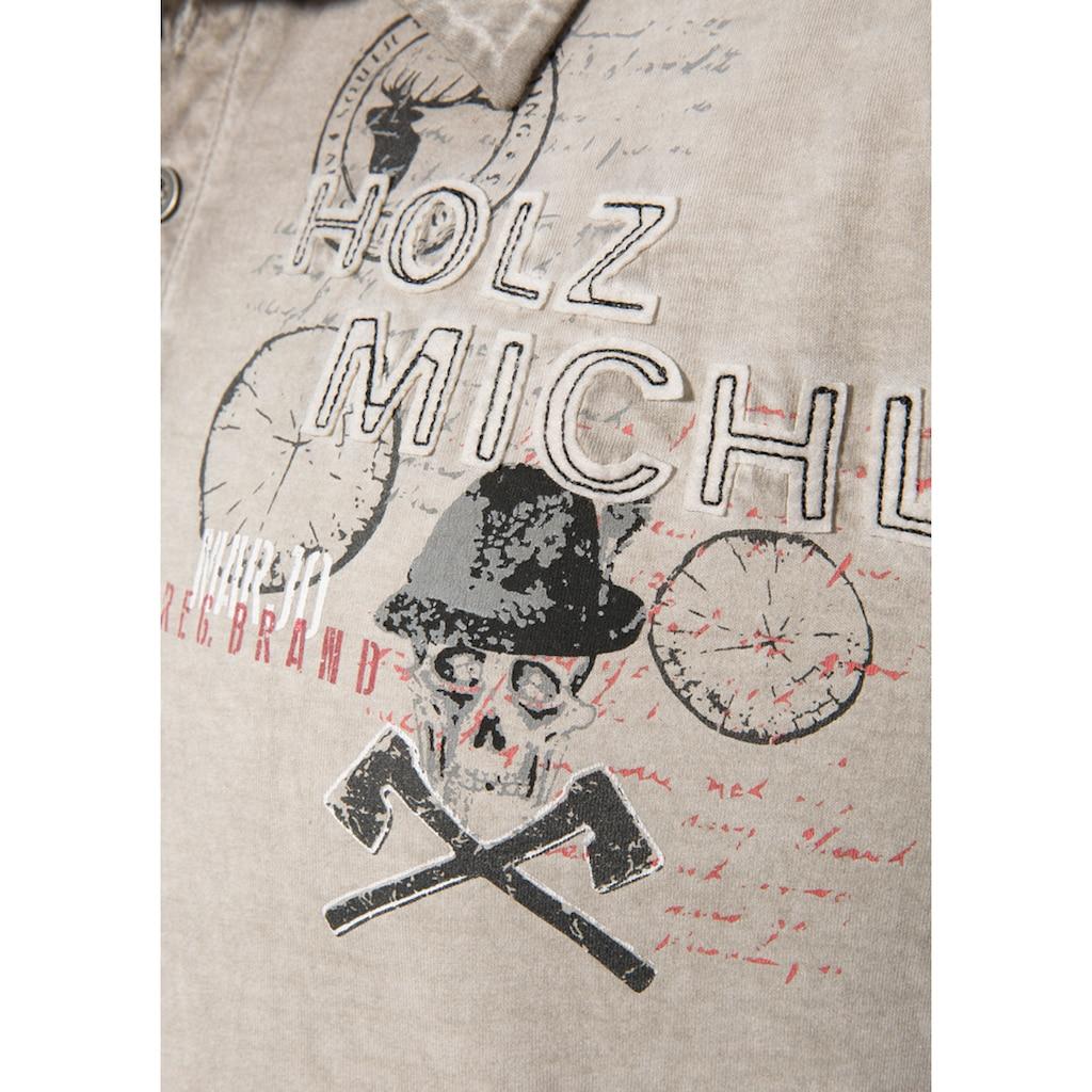 MarJo Trachtenshirt, im Used Look