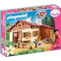 """Playmobil® Konstruktions-Spielset """"Heidi und Großvater auf der Almhütte (70253), Heidi"""", Kunststoff"""