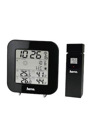 Hama Wetterstation »Mit Funk-Außensensor«, (mit Außensensor), EWS-200, Schwarz kaufen