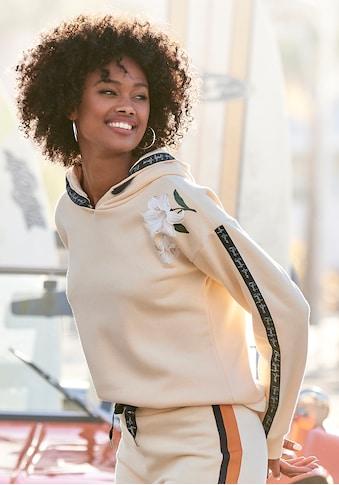Bench. Kapuzensweatshirt, mit Blumenprint und Logotapes kaufen