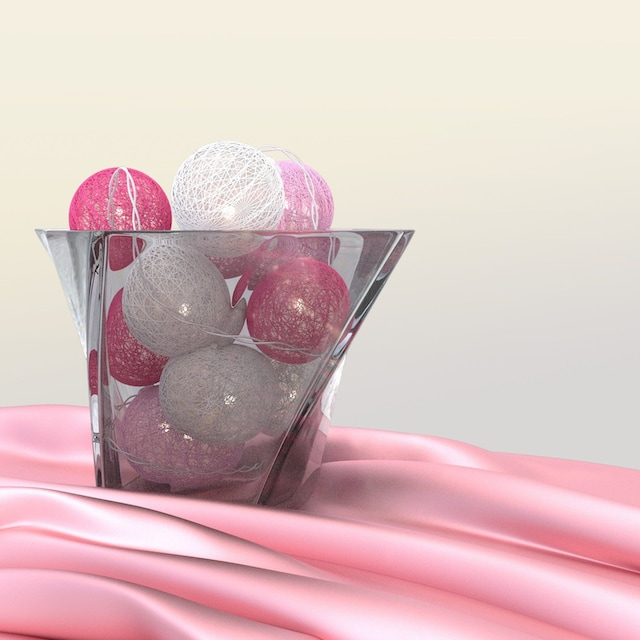 Goobay 10er LED Lichterkette »Cotton Balls, batteriebetrieben«