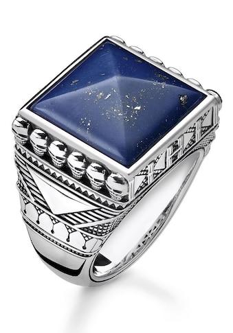THOMAS SABO Silberring »TR2206-531-1-60, 62, 64, 66, 68, Ethno Totenköpfe blau«, mit... kaufen