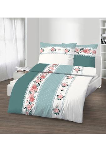 Bettwäsche »Baumwoll-Renforcé«, mit dekorativer Blümchenborte kaufen