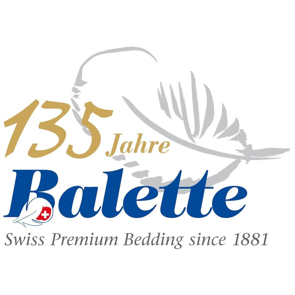 Balette Daunenbettdecke »Nina«, Füllung Weiße neue Gänsedaunen (90%) und -Federn (10%) der Klasse 1; Kein Lebendrupf, Bezug Mako-Einschüttung (100% Baumwolle), (1 St.)