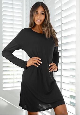 LASCANA Nachthemd, mit überschnittener Schulter und schmalen Ärmeln kaufen