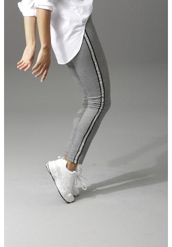 Aniston CASUAL Schlupfhose, mit glitzernden Galonstreifen kaufen