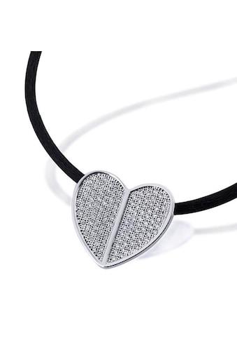 goldmaid Collier Pavee Herz 925/- Sterlingsilber 112 weiße Zirkonia kaufen