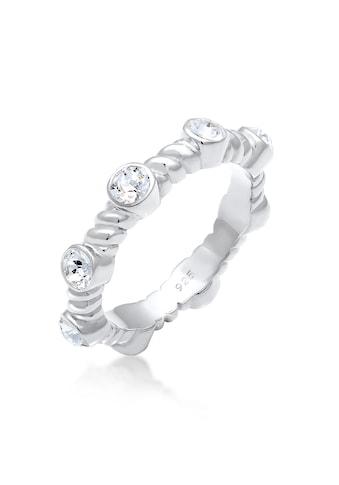 Elli Fingerring »Gedreht Infinity Kristalle 925 Silber« kaufen