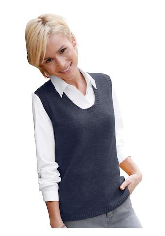 Casual Looks Pullunder mit streckendem V - Ausschnitt kaufen