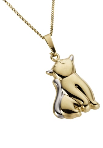 Firetti Kettenanhänger »Katze, glanzvoll, teilw. rhodiniert«, Made in Germany kaufen