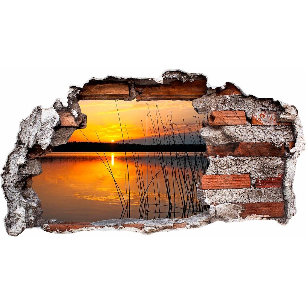 Wall-Art Wandtattoo »Sonnenuntergang am See«