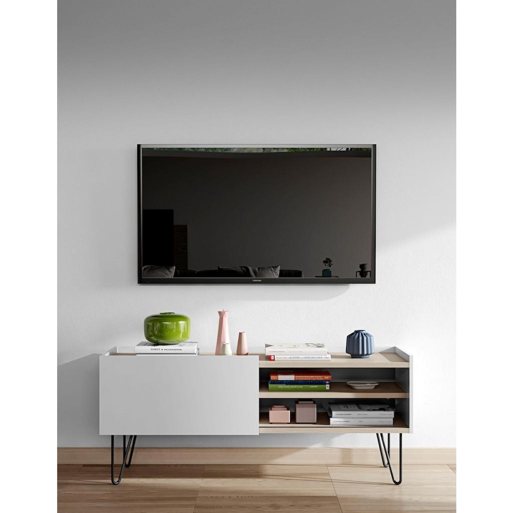 TemaHome Lowboard »Nina«, mit schönen Metallgestell, in zwei unterschiedlichen Farben