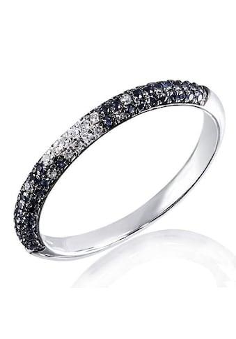 goldmaid Damenring 585 Weißgold 20 Diamanten . 0,11ct.,58 blaue Saphire kaufen