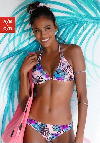 Venice Beach Triangel-Bikini-Top »Marly«, mit tropischem Print kaufen
