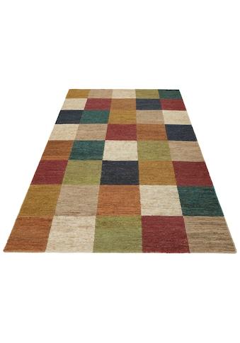 Teppich, »Check«, Home affaire, rechteckig, Höhe 5 mm, handgewebt kaufen