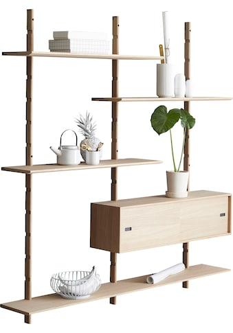 PBJ Wandregal »Less«, inklusive 1 kleinen Schrank mit Schiebetüren, Breite 158 cm kaufen