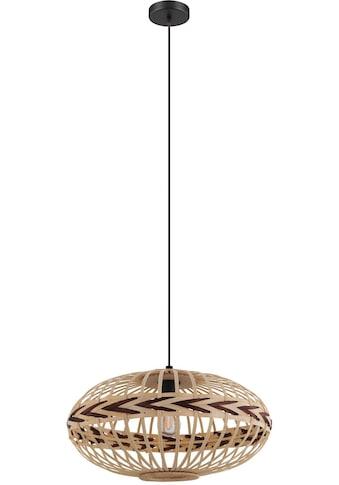EGLO Hängeleuchte »Dondarrion«, E27, Holzkorb geflochten, Natur, Braun, Vintage,... kaufen