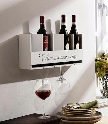 weißes Weinregal