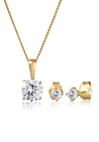Elli Schmuckset »Zirkonia 585 Gelbgold« kaufen
