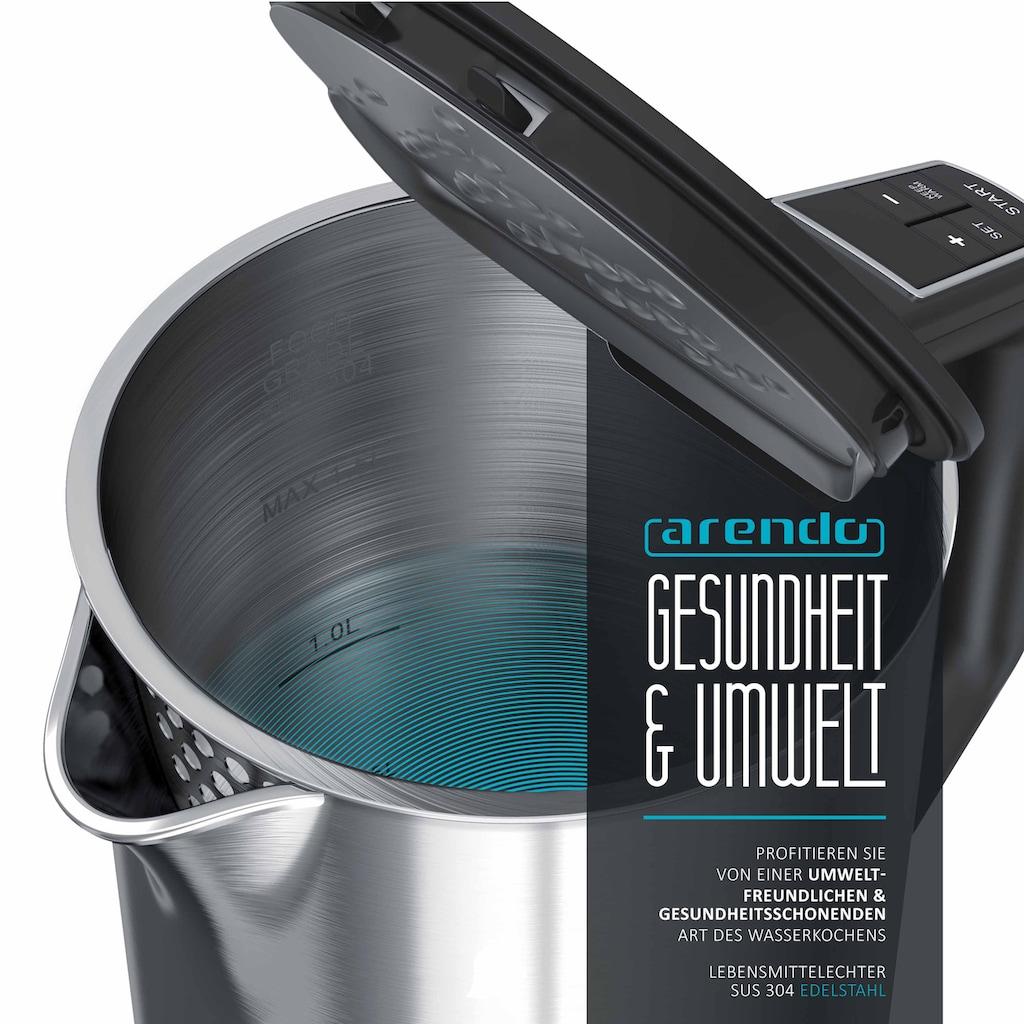 Arendo Frühstücks-Set »Wasserkocher / Toaster«, 2-teilig in silber
