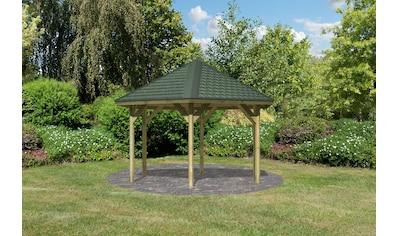 Karibu Pavillon »Oslo 2«, (Set), BxTxH: 392x451x315 cm, mit grünen Dachschindeln kaufen