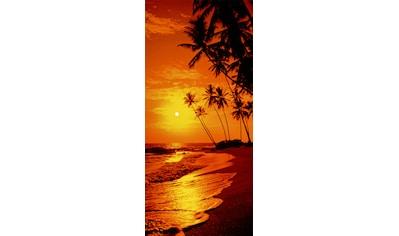 PAPERMOON Fototapete »Sunny Palms  -  Türtapete«, BlueBack, 2 Bahnen, 90 x 200 cm kaufen