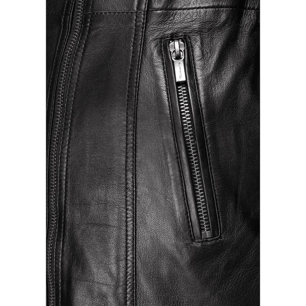 Tamaris Kurzmantel, aus weichem Leder