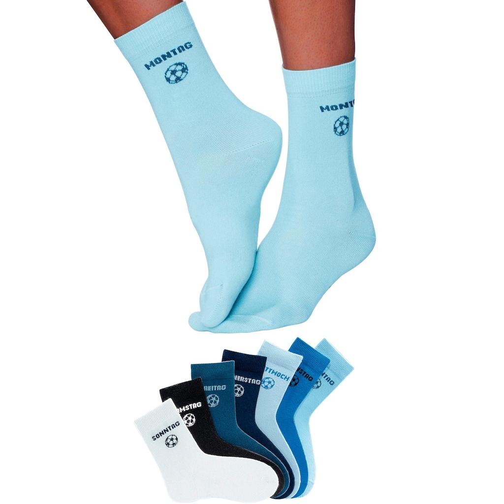 H.I.S Socken, (7 Paar), für Kinder mit Fußballmotiv