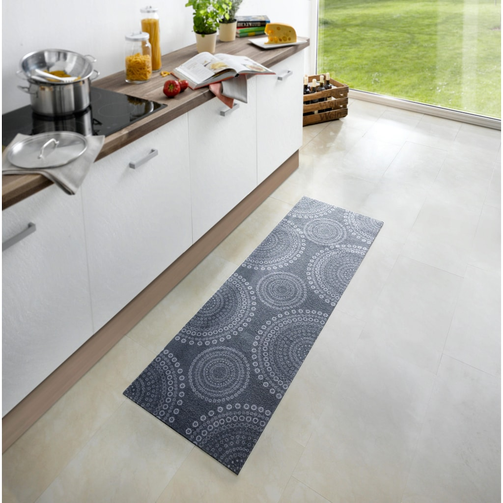 Zala Living Küchenläufer »Flower Dots«, rechteckig, 5 mm Höhe, waschbar, rutschhemmend