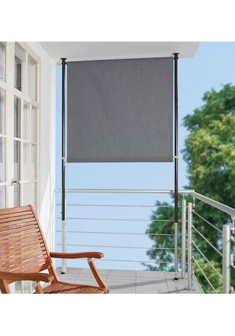 ANGERER FREIZEITMÖBEL Klemm - Senkrechtmarkise grau, BxH: 150x275 cm kaufen