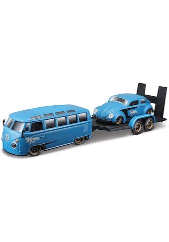 Maisto® Sammlerauto »Elite Transporter VW Van Samba«, 1:24, inklusive Anhänger mit Beetle kaufen
