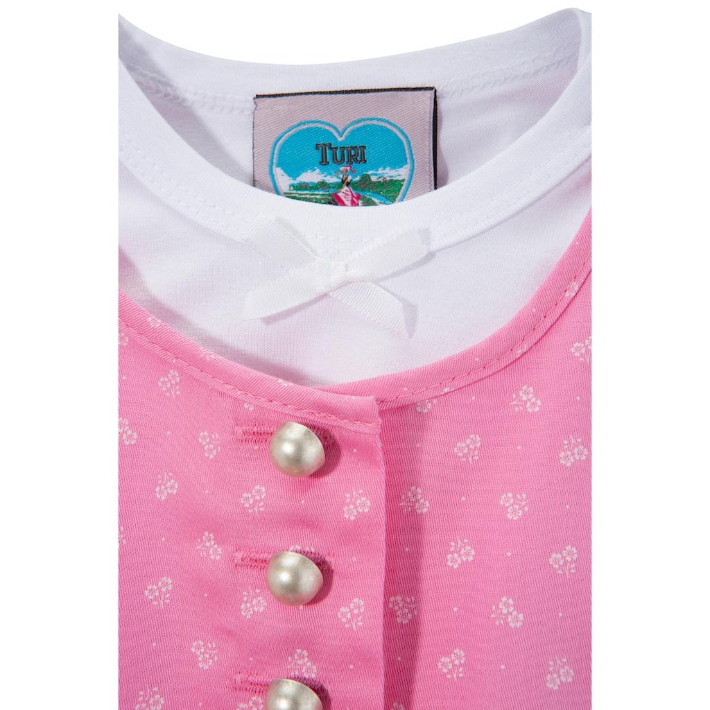 Turi Landhaus Dirndl, (3 tlg.), Baby, mit Jerseyshirt