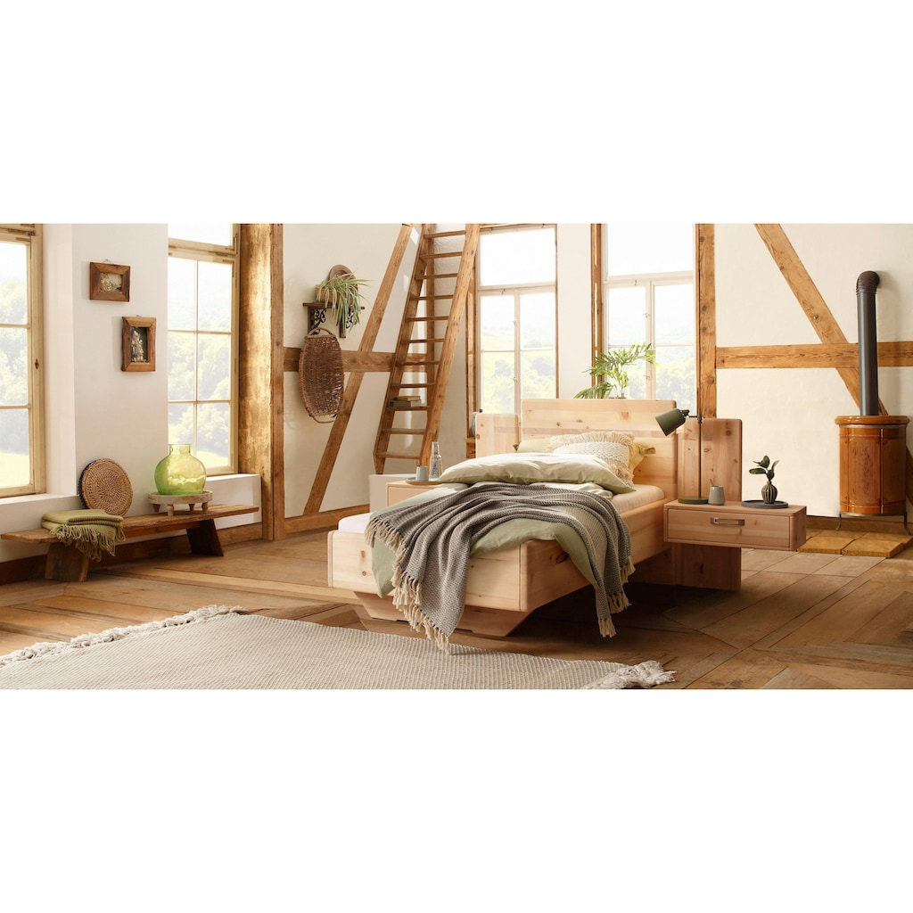 Premium collection by Home affaire Massivholzbett »Meran«, aus Zirbe, 100% vegan