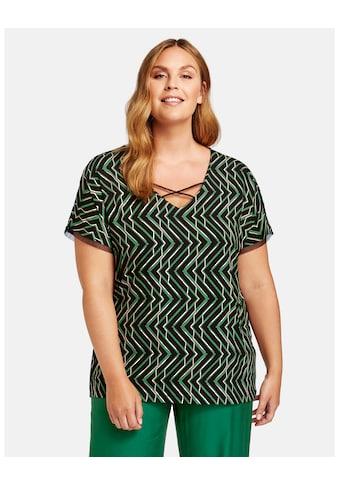 Samoon Rundhalsshirt »Shirt mit raffiniertem V - Ausschnitt EcoVero« kaufen