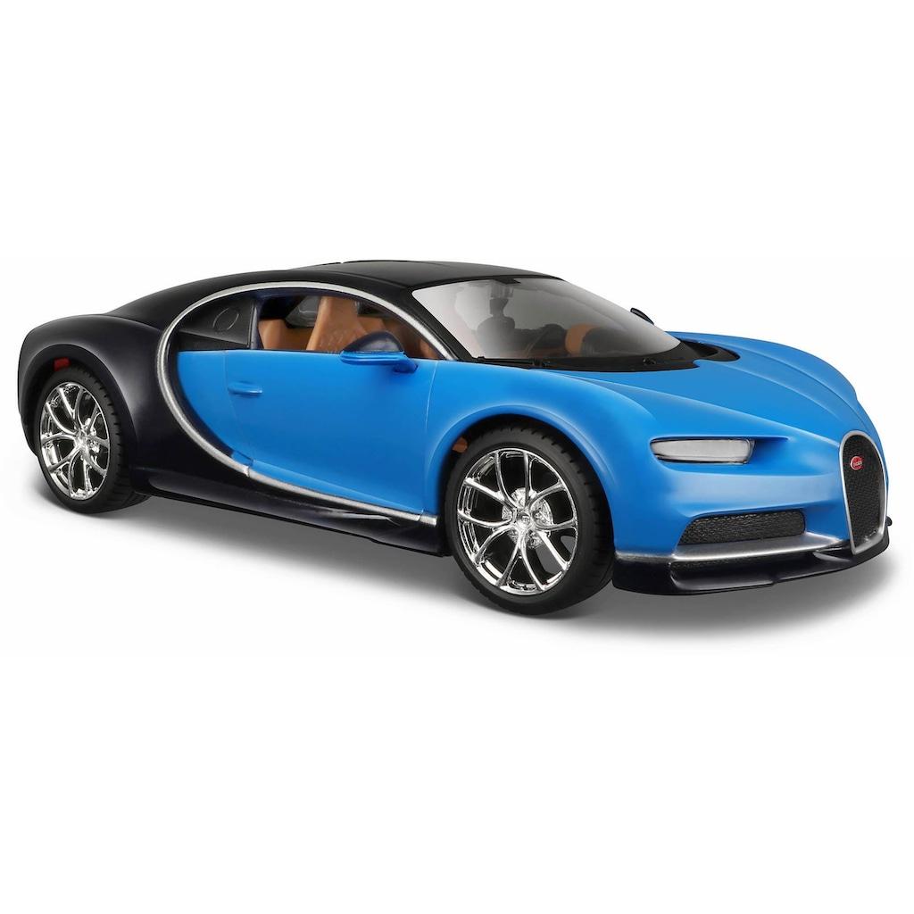 Maisto® Sammlerauto »Bugatti Chiron, 1:24, blau«, 1:24, aus Metallspritzguss