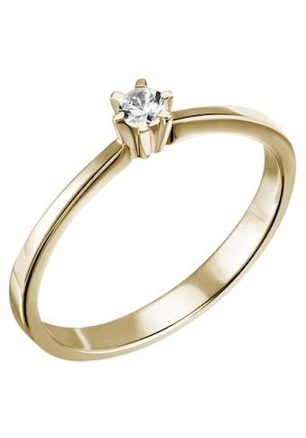 Firetti Diamantring »Solitär, ca. 1,79 mm breit, elegant«, mit Brillant kaufen