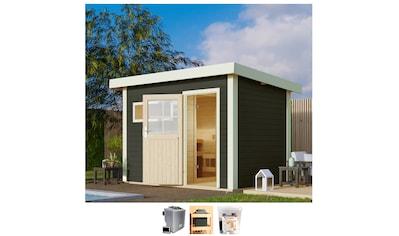 Karibu Saunahaus »Uwe 1«, 9-kW-Bio-Ofen mit ext. Steuerung kaufen