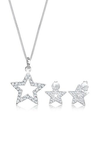 Elli Schmuckset »Stern Astro Kristall 925 Silber Univers« kaufen