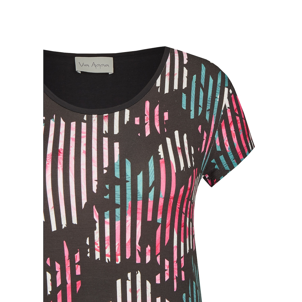 VIA APPIA Sommerliches Shirt mit extravagantem Muster