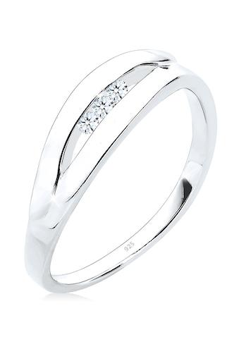 Diamore Diamantring »Klassisch Trio Diamant (0.09 ct.) 925 Silber« kaufen
