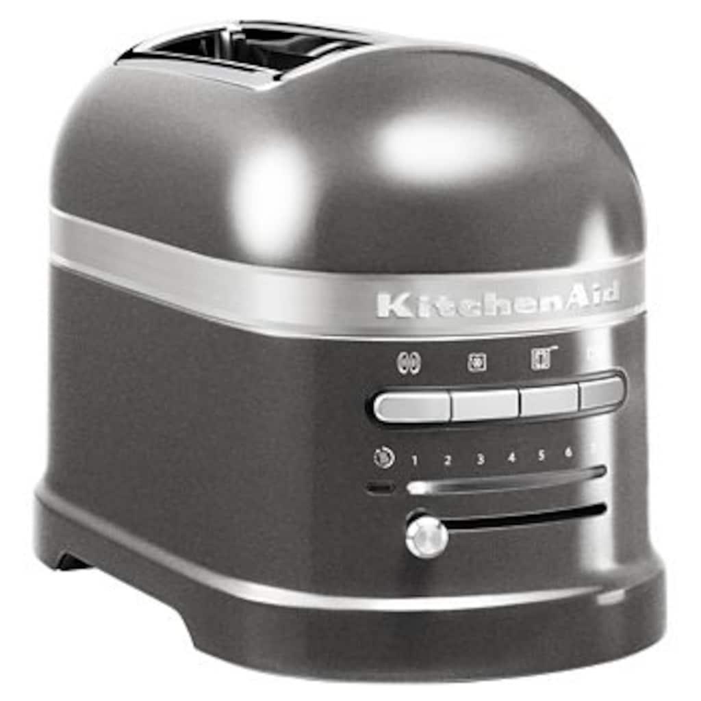 KitchenAid Toaster »Artisan 5KMT2204EMS«, 2 kurze Schlitze, für 2 Scheiben, 1250 W