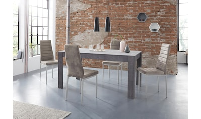 my home Essgruppe »Lynn160/Kate«, (Set, 5 tlg.), Tisch mit 4 Stühlen kaufen