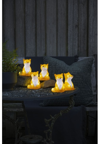 KONSTSMIDE LED-Lichterkette, 40 St.-flammig, LED Acryl Füchse sitzend, 5-er Set, 40... kaufen
