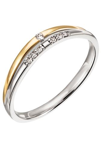 Firetti Diamantring »Nobel, 3,0 mm breit, Bicolor-Optik, Glanz, teilw. rhodiniert,... kaufen